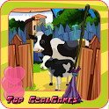 Farm house clean up decoration icon
