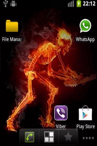 Fire Skeleton Live Wallpaper
