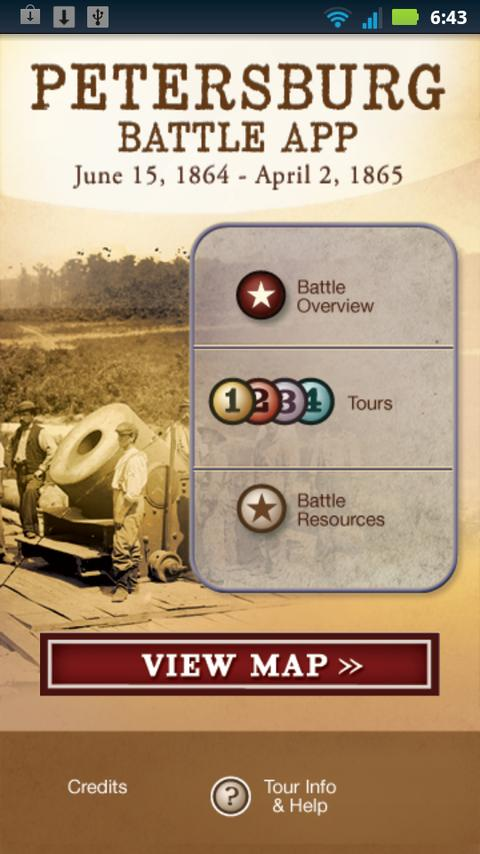 Petersburg Battle App - screenshot