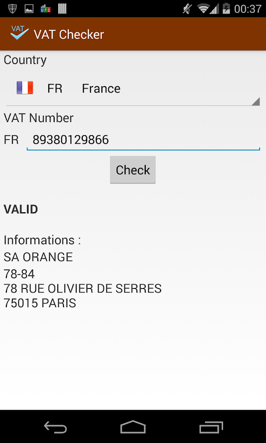 VAT Checker for EU company- screenshot