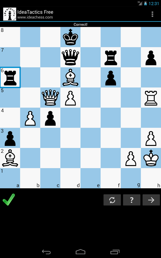 IdeaTactics free chess tactics- screenshot