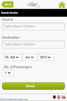 Screenshot of Bus India Mobile App