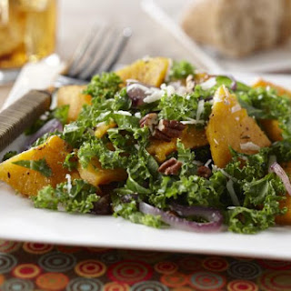 Autumn Butternut and Kale Salad with Maple Vinaigrette.