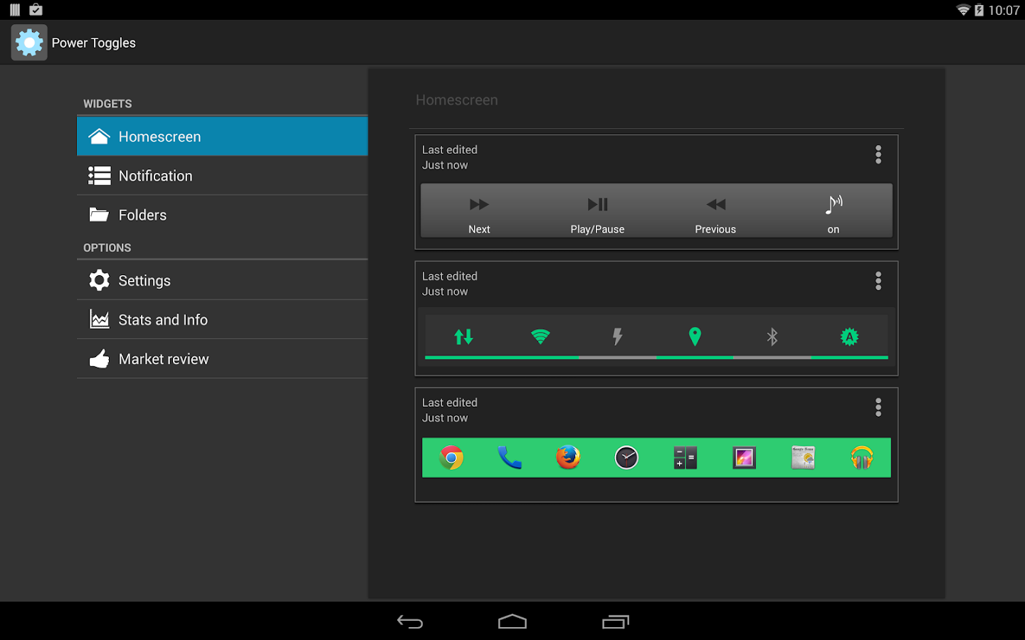 Power Toggles - screenshot