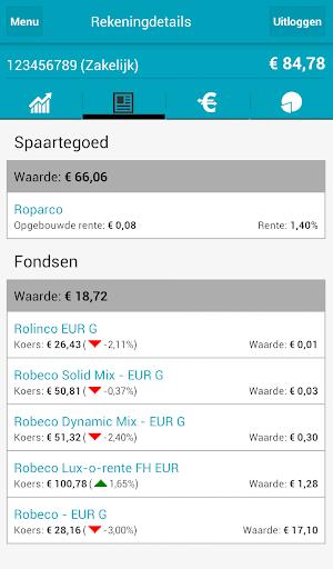Screenshots #3. Mijn Robeco / Android