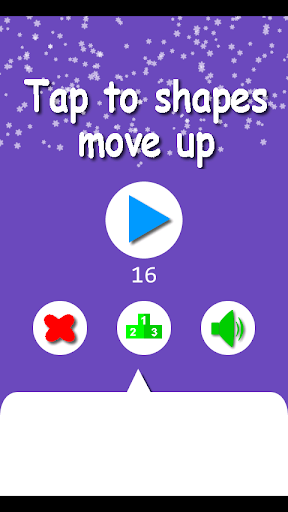 Tap to shapes move up