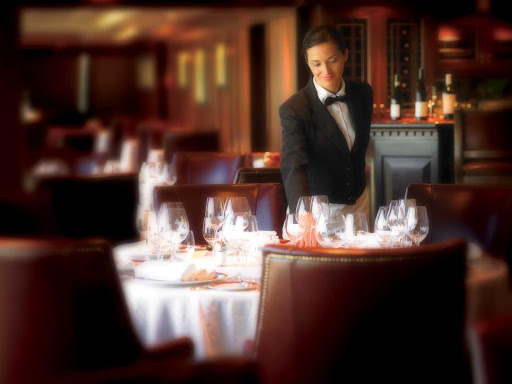 Indulge in the traditional, handsome dining room of Oceania Nautica's Polo Grill.