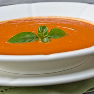 Chilled Creamy Tomato-Basil Soup