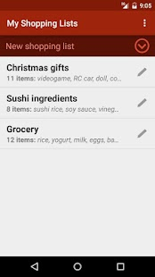 Shopping Lists (with widget)- screenshot thumbnail