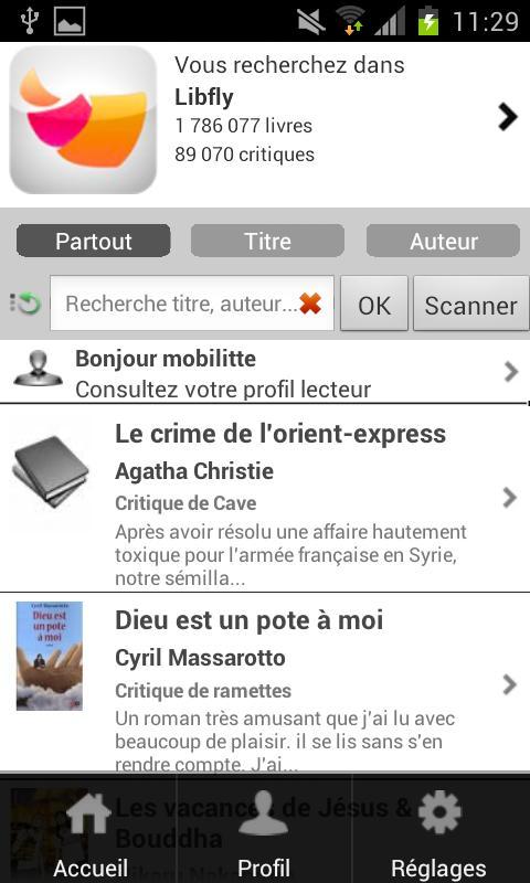 MobiLitté - screenshot