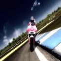 Bikes race on track icon