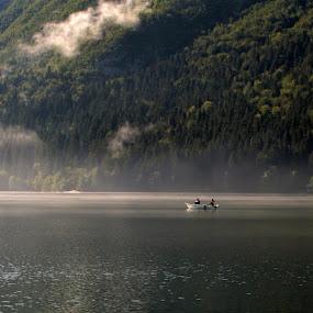 morning fishing by Jože Borišek - Landscapes Weather ( bohinj-slovenia )