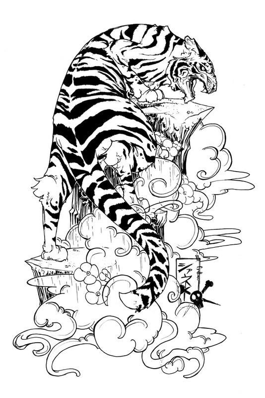 Tiger Tattoo Design Wallpaper Screenshot