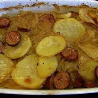 Smoked Sausage And Sauerkraut Casserole