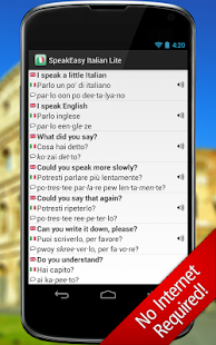 SpeakEasy Italian LT ~ Phrases - screenshot thumbnail