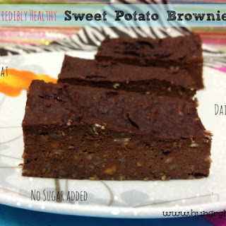 Healthy Sweet Potato Brownies.