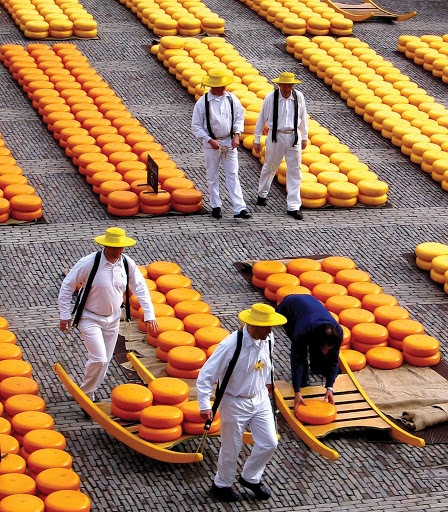 Kaasmarkt-Alkmaar-Holland - Say cheese: the Kaasmarkt (Cheese Market) in Alkmaar, north of Amsterdam in the Netherlands.