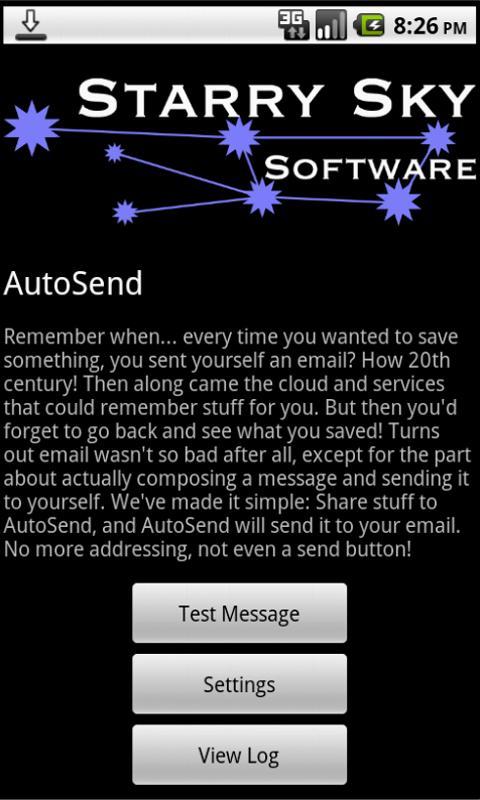 AutoSend- screenshot