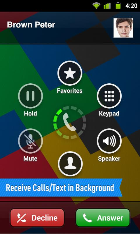 PHONE for Google Voice & GTalk - screenshot