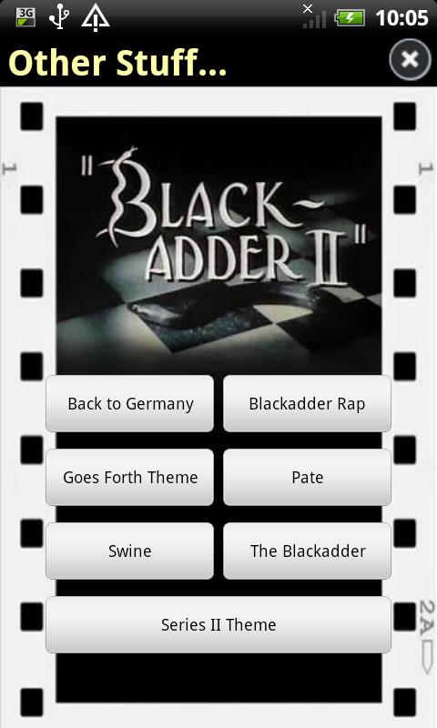 Blackadder Sounds - screenshot