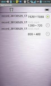 SpyCamcorder Widget v1.0.3