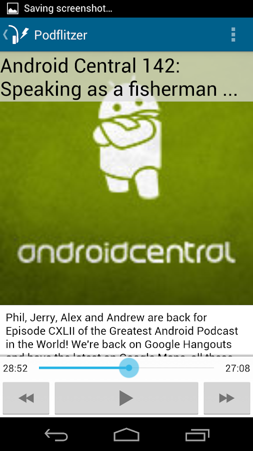 Podflitzer Podcast Player- screenshot