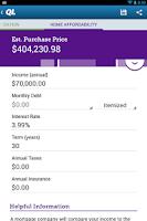 Screenshot of Mortgage Calculator by QL