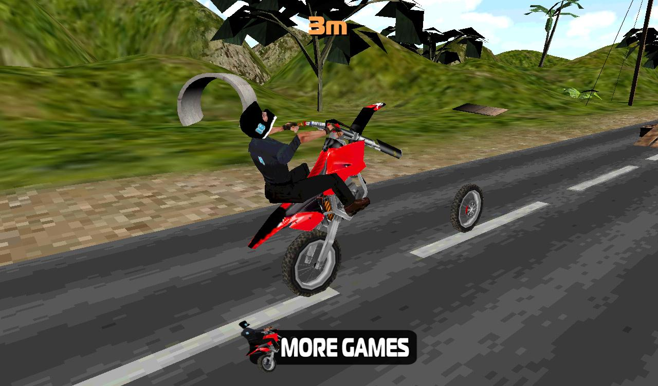 Bike 3d Game Stunt Bike D screenshot