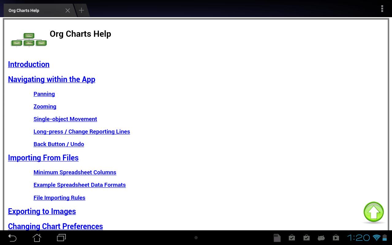 org charts screenshot - Organization Chart App