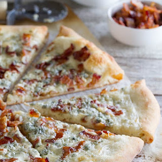Blue Cheese and Bacon Pizza