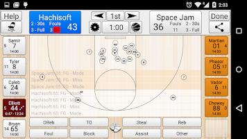 Screenshot of Basketball Stat Tracker