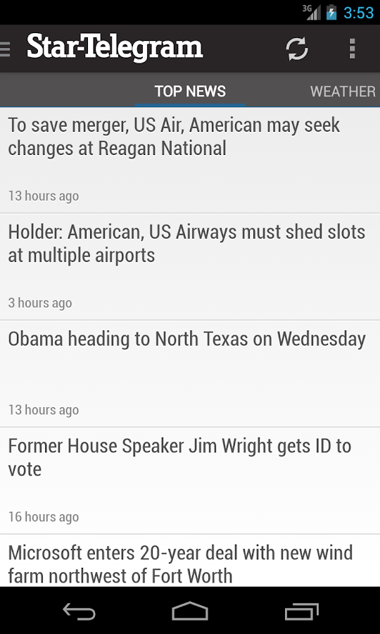 Ft Worth Star-Telegram News - screenshot