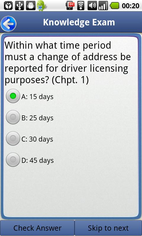Driver License Test Texas- screenshot