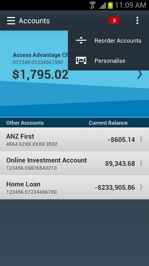 ANZ goMoney Australia - screenshot
