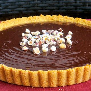 Chocolate Ganache Tart w/ Hazelnut Crumble