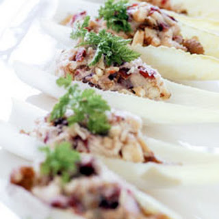 Stilton Cheese & Dried Cherry Endive Boats.
