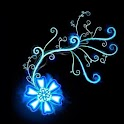 3D blue flower logo