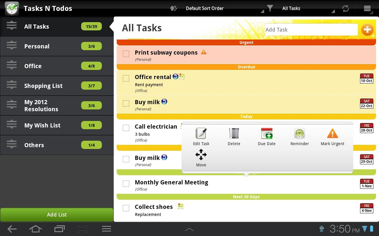 TNT Pro To-Do List | Task List- screenshot