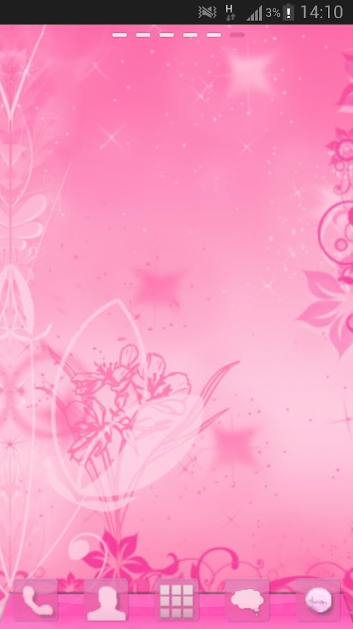 GO Launcher Pink Theme Flowers - screenshot