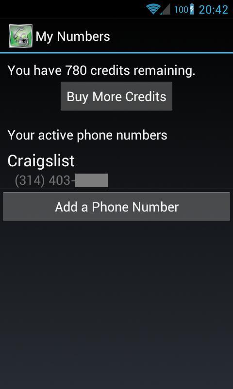 Disposable Numbers- screenshot
