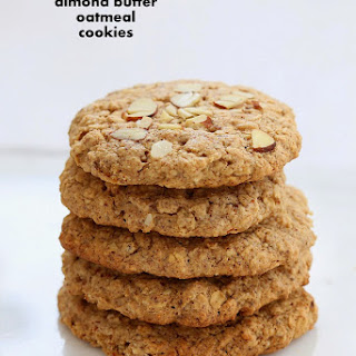 Almond Butter Oatmeal Cookies.