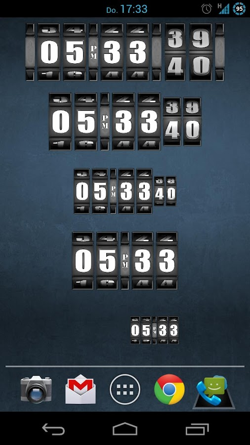 3D Rolling Clock PRO- screenshot