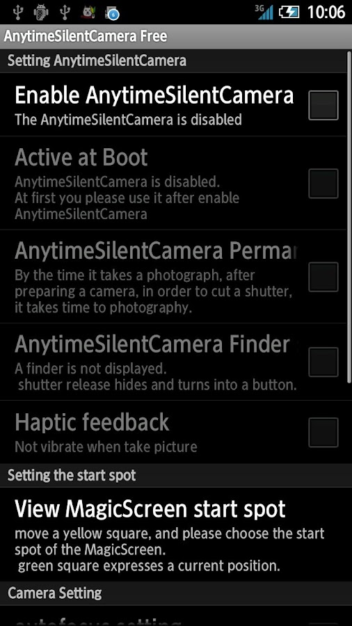 AnytimeSilentCamera Free - screenshot