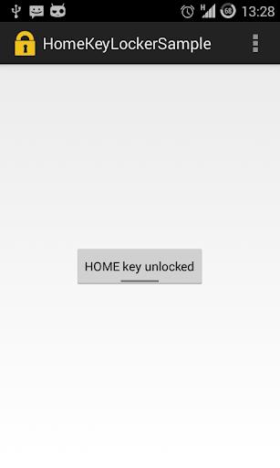 HomeKeyLocker for Android Demo