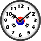 South Korea Flag Analog Clock