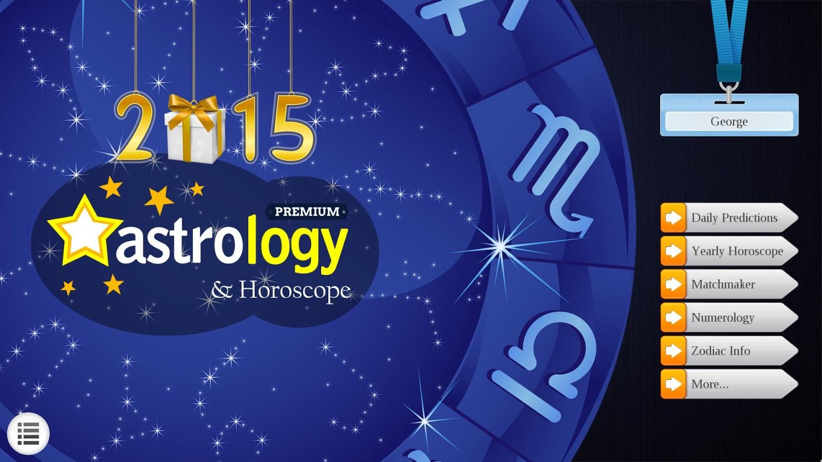 2015 Astrology & Horoscope Lt - στιγμιότυπο οθόνης
