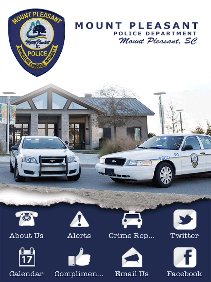 Mount Pleasant SC Police Dept.- screenshot