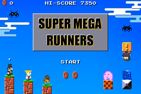 Super Mega Runners 8-Bit jump- screenshot thumbnail