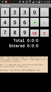 TimeCalc screenshot 1