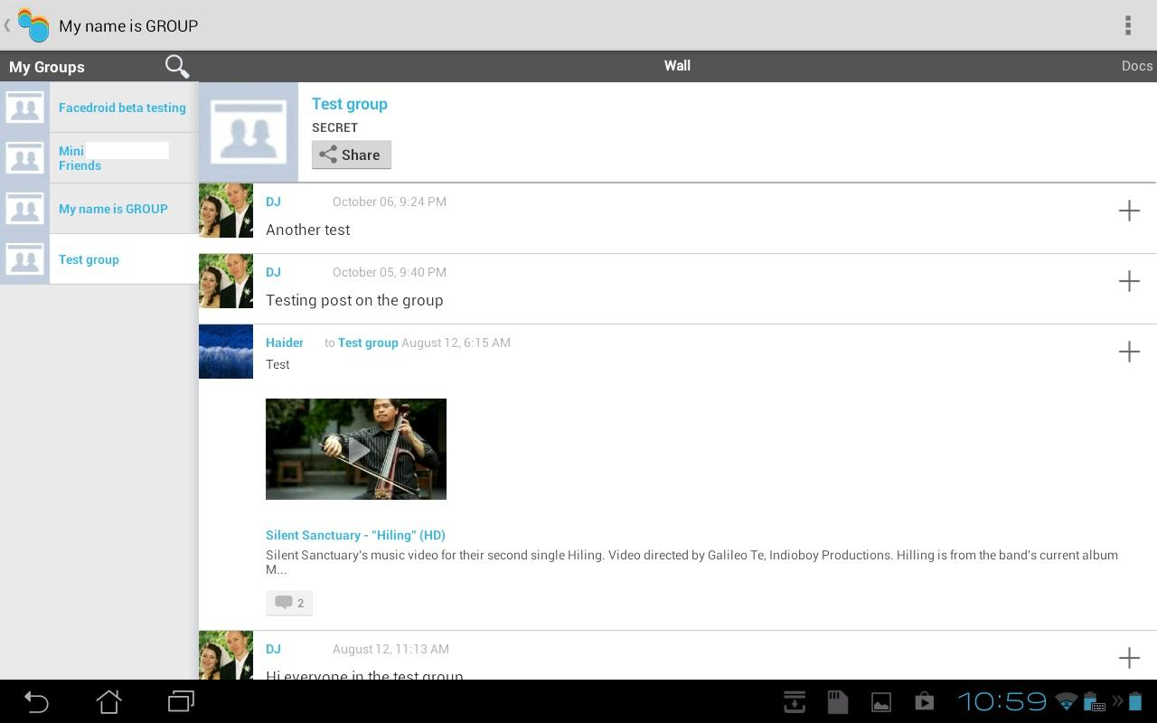 Vita for Facebook - screenshot